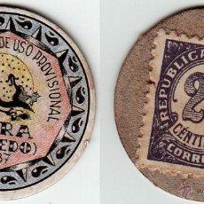Reproducciones billetes y monedas: MORA - SERIE TOLEDO - CARTON MONEDA - SELLO MONEDA. Lote 206152207