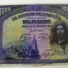 Reproducciones billetes y monedas: BILLETE FASCIMIL 1000 PESETAS 1928. Lote 85217252