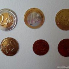 Reproducciones billetes y monedas: COLECCION COMPLETA MONEDAS EURO - ESPAÑA - EN CARTÓN. Lote 56200433