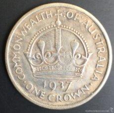 Reproducciones billetes y monedas: 1 CORONA DE AUSTRALIA 1937 CON EL REY JORGE VI. Lote 56879610