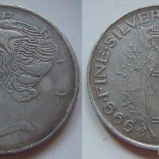 Reproducciones billetes y monedas: DOLAR LIBERTY BUENA REPRODUCCION. Lote 56895175