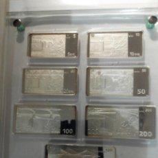 Reproducciones billetes y monedas: REPRODUCCIÓN BILLETES EURO PLATA .925. Lote 57892515
