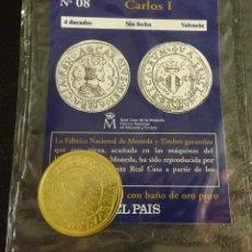 Reproducciones billetes y monedas: REPRODUCCIÓN DE LA MONEDA DE 4 DUCADOS SIN FECHA DE CARLOS I. CECA VALENCIA. REAL CASA DE LA MONEDA. Lote 57934990