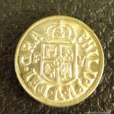 Reproducciones billetes y monedas: REPRODUCCIÓN EN PLATA DE 800 MILÉSIMAS DE LA MONEDA TRESETA DE FELIPE V. CECA VALENCIA. Lote 57935339