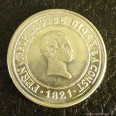 Reproducciones billetes y monedas: REPRODUCCIÓN EN PLATA DE LA MONEDA 4 REALES DE FERNANDO VII. CECA MADRID. Lote 57935952