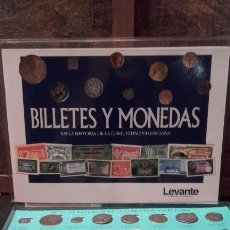 Reproducciones billetes y monedas: BILLETES Y MONEDAS EN LA COMUNIDAD VALENCIANA - LEVANTE EL MERCANTIL VALENCIANO - COLECCION REPLICA. Lote 131479409