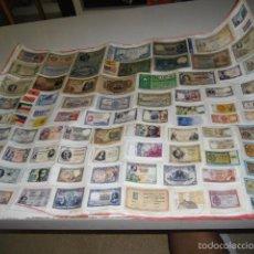 Reproducciones billetes y monedas: BILLETES FASCIMIL PEGADO EN CARTULINA LOS DE FOTO. Lote 58146421