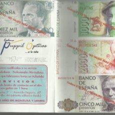 Reproducciones billetes y monedas: LOTE DE REPRODUCCIONES DE PROPAGANDA DE BILLETES ESPAÑOLES VER FOTOS . Lote 58246318