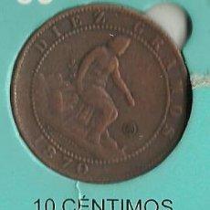 Reproducciones billetes y monedas: MONEDA MONEDA CONTEMPORANEA GOVIERNO PROVISIONAL 10 CENTIMOS REPRODUCCION . Lote 58289441