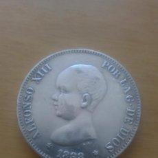 Reproducciones billetes y monedas: MONEDA FALSA 5 PESETAS 1888 MS M. Lote 59500391
