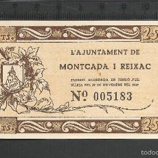 Reproducciones billetes y monedas: 25 CÉNTIMOS - MONTCADA I REIXAC. Lote 59603191