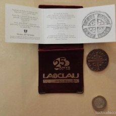 Reproducciones billetes y monedas: REPLICA MONEDA DE CINCO REALES DE 1642 TARRASA. Lote 59673619