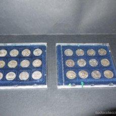 Reproducciones billetes y monedas: LAS MONEDAS DE LA HISTORIA DE ESPAÑA I Y II, ACUÑADAS EN PLATA.. Lote 91259852