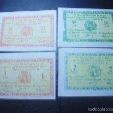 Reproducciones billetes y monedas: JUEGO COMPLETO BILLETES TOTANA , SIN CIRCULAR 1937. Lote 60246607