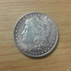 Reproducciones billetes y monedas: MONEDA USA DÓLAR MORGAN 1880 ORLEANS - REPRODUCCIÓN. Lote 173056545