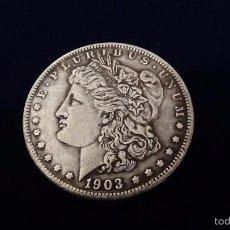 Reproducciones billetes y monedas: MONEDA DE 1 DÓLAR MORGAN AÑO 1903 P. Lote 61033127