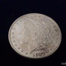 Reproducciones billetes y monedas: MONEDA DE 1 DÓLAR MORGAN AÑO 1921 P. Lote 61033327