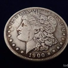 Reproducciones billetes y monedas: 1 DÓLAR MORGAN AÑO 1900 S. Lote 248996200