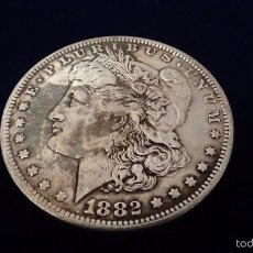 Reproducciones billetes y monedas: MONEDA DE 1 DÓLAR MORGAN AÑO 1882 S. Lote 61035279