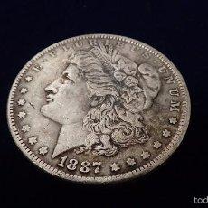 Reproducciones billetes y monedas: MONEDA DE 1 DÓLAR MORGAN AÑO 1887 S. Lote 248996225