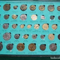 Reproducciones billetes y monedas: COLECCIÓN COMPLETA DE MONEDAS HISTÓRICAS DE LA COMUNIDAD VALENCIANA 40 MONEDAS. Lote 62577772