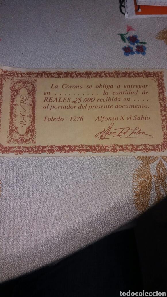 REPLICA PAGARÉ ALFONSO X EL SABIO 1276 (Numismática - Reproducciones)