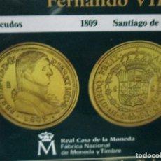 Reproducciones billetes y monedas: 8 ESCUDOS 1809 SANTIAGO DE CHILE COLECCION DEL REAL A LA PESETA. Lote 64021751