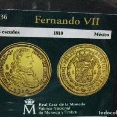 Reproducciones billetes y monedas: 8 ESCUDOS 1810 FERNANDO XII MEXICO COLECCION DEL REAL A LA PESETA. Lote 64028827