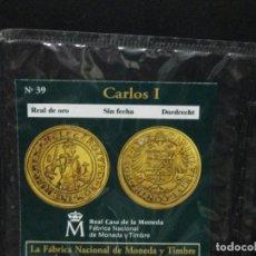 Reproducciones billetes y monedas: REAL DE ORODORDRECHT CARLOS I COLECCION DEL REAL A LA PESETA. Lote 64163999