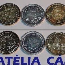 Reproducciones billetes y monedas: FNMT – 5 MONEDAS - COLECCIÓN DEL REAL A LA PESETA – PLATA Y ORO – REAL 04. Lote 64188527