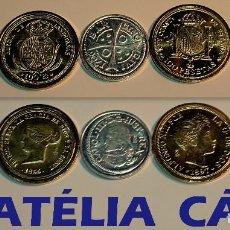 Reproducciones billetes y monedas: FNMT – 5 MONEDAS - COLECCIÓN DEL REAL A LA PESETA – PLATA Y ORO – REAL 05. Lote 64188627