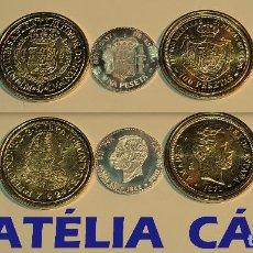 Reproducciones billetes y monedas: FNMT – 5 MONEDAS - COLECCIÓN DEL REAL A LA PESETA – PLATA Y ORO – REAL 06. Lote 64189007