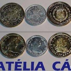 Reproducciones billetes y monedas: FNMT – 5 MONEDAS - COLECCIÓN DEL REAL A LA PESETA – PLATA Y ORO – REAL 09. Lote 64190187