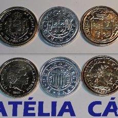 Reproducciones billetes y monedas: FNMT – 5 MONEDAS - COLECCIÓN DEL REAL A LA PESETA – PLATA Y ORO – REAL 01. Lote 63657454