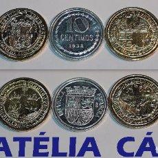Reproducciones billetes y monedas: FNMT – 5 MONEDAS - COLECCIÓN DEL REAL A LA PESETA – PLATA Y ORO – REAL 02. Lote 64177003