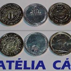 Reproducciones billetes y monedas: FNMT – 5 MONEDAS - COLECCIÓN DEL REAL A LA PESETA – PLATA Y ORO – REAL 03. Lote 64178287