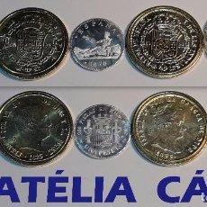 Reproducciones billetes y monedas: FNMT – 5 MONEDAS - COLECCIÓN DEL REAL A LA PESETA – PLATA Y ORO – REAL 12. Lote 64190959