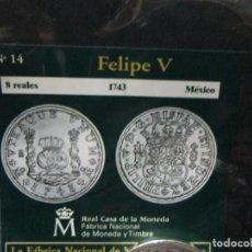 Reproducciones billetes y monedas: 8 REALES 1743 FELIPE V MEXICO. Lote 64193791