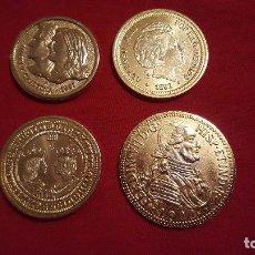 Reproducciones billetes y monedas: LOTE DE 4 MONEDAS DE METAL TODAS SON REPRODUCCIONES. Lote 64369415