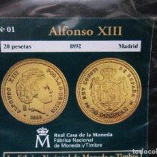 Reproducciones billetes y monedas: 20 PESETAS ALFONSO XIII MADRID COLECCION DEL REAL A LA PESETA. Lote 64490547