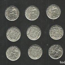 Reproducciones billetes y monedas: COLECCION DE ARRAS PESETAS DE LA REPUBLICA 1933 REPRODUCCIONES. Lote 64535163