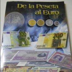 Reproducciones billetes y monedas: DE LA PESETA AL EURO. HISTORIA DE LA PESETA. COLECCIONABLE DEL DIARIO LA VOZ DE ASTURIAS. 1999. RUST. Lote 64710063