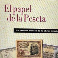 Reproducciones billetes y monedas: EL PAPEL DE LA PESETA. ESPAÑA.. Lote 65673794