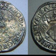 Reproduções notas e moedas: REPRODUCCION DE UN DOBLE REAL DE CARLOS I VALENCIA. Lote 65901102