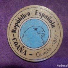 Reproducciones billetes y monedas: CARTÓN MONEDA DE USO PROVISIONAL - COAÑA - OVIEDO 1937 - 20 CÉNTIMOS - REPUBLICA ESPAÑOLA. Lote 66908838