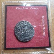 Reproducciones billetes y monedas: RULERS OF BRITAIN,KING JOHN,NUEVA. GOBERNANTES BRITANICOS COLECCIÓN.COPIA.. Lote 66923158