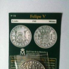 Reproducciones billetes y monedas: FELIPE V-8 REALES-1743-MEXICO. Lote 66926074