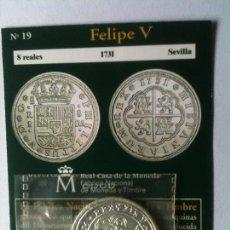 Reproducciones billetes y monedas: FELIPE V-8 REALES-1738-SEVILLA. Lote 66929210
