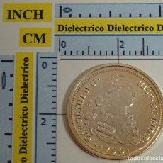 Reproducciones billetes y monedas: REPRODUCCIÓN MONEDA FNMT. 8 ESCUDOS CARLOS IV SEVILLA. 1790. ORO. 23 / 40 DEL REAL A LA PESETA. . Lote 67036914