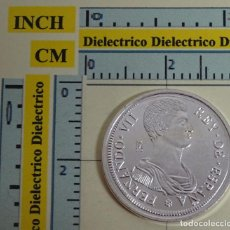 Reproducciones billetes y monedas: REPRODUCCIÓN MONEDA FNMT. 5 PESETAS FERNANDO VII GERONA 1809. PLATA 26 / 40 DEL REAL A LA PESETA.. Lote 156751097